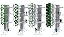 University of Florida Graduates Mani Karami and Drew Kauffman Create Photobioreactor Facade Systems for Algae Architecture