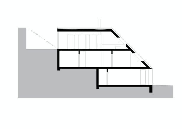Longitudinal Section Kuba & Pilař architekti