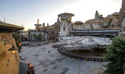 The shabby-futurist architecture of Star Wars: Galaxy's Edge, Disneyland's newest addition