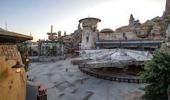 The shabby-futurist architecture of Star Wars: Galaxy's Edge, Disneyland's newest addition