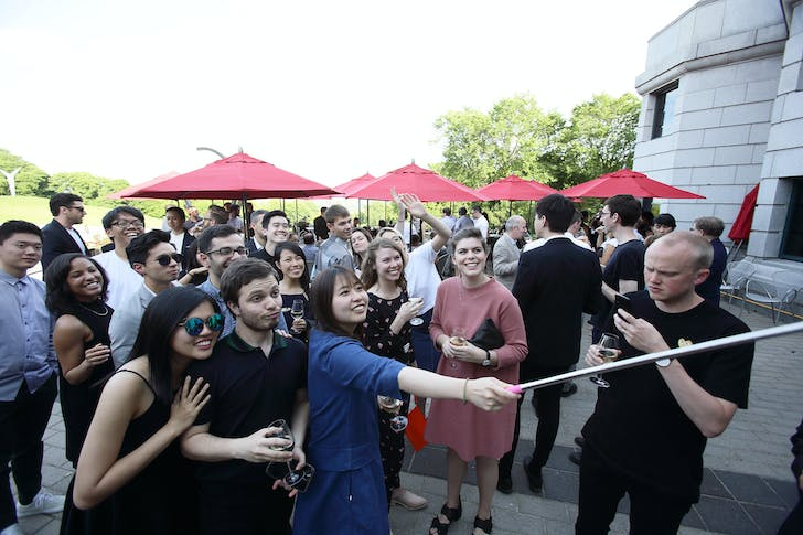 Office trip to the MNBAQ opening. Photo courtesy of OMA New York.