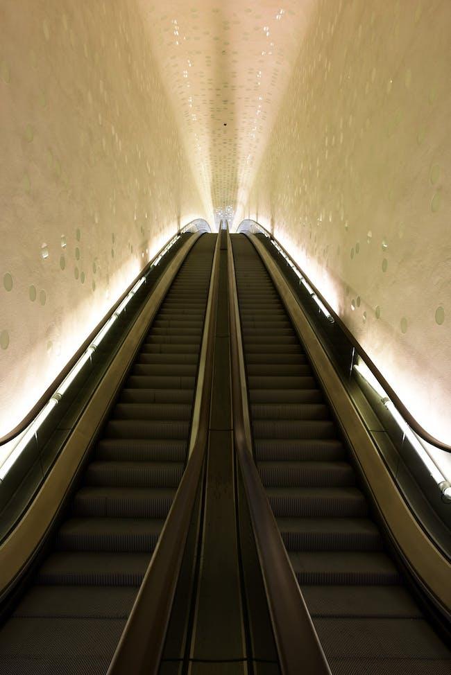 "The ""Tube"" at the Elbphilharmonie. Photo © Michael Zapf"
