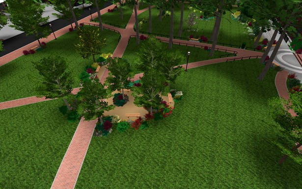 digital rendering - outdoor classroom