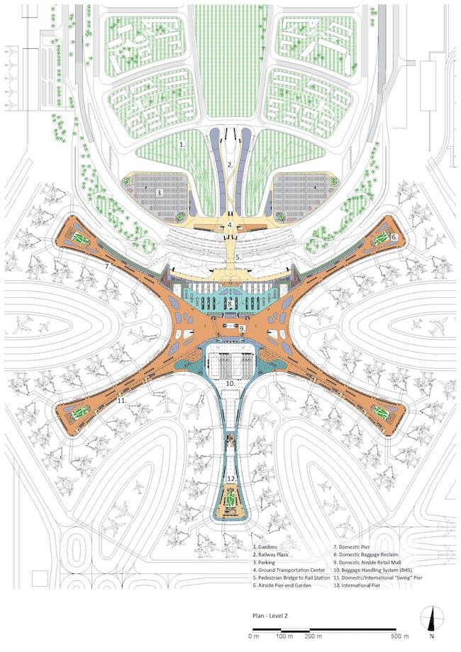 Plan - Level 2. Courtesy of Zaha Hadid Architects.