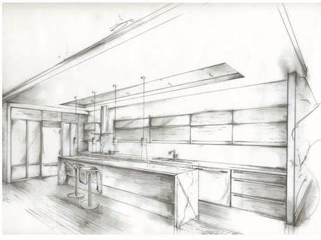 Kitchen Remodel - Manhattan Beach, Freehand concept