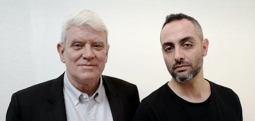 Bernhard Karpf (left) and Parsa Khalili (right) have left Richard Meier & Partners to start their own firm. Image courtesy of Karpf Khalili Architects.