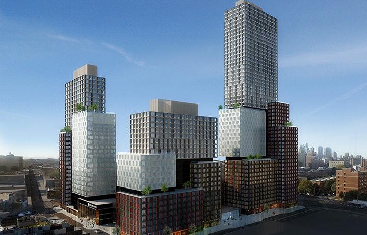 work finally resumes at brooklyn u0026 39 s modular prefab tower