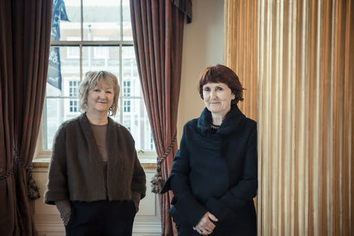 Yvonne Farrell and Shelley McNamara. Photo: Courtesy Grafton Architects.