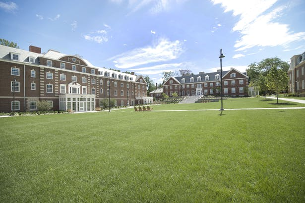 Park Manor Central (left), South (right) and the redesigned quadrangle