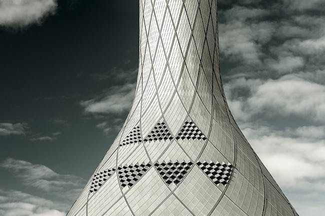 Airport Tower at Edinburgh Airport, Scotland. (Photo: Carolyn Russo/Smithsonian Books; Image via smithsonianmag.com)