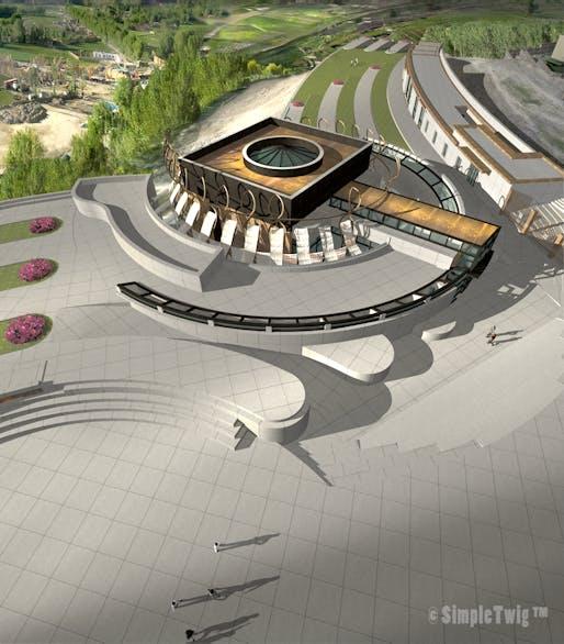 Bamiyan Cultural Centre - Aerial view