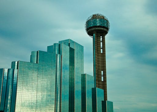 Welton Becket's Reunion Tower from 1978. Image courtesy of Wikimedia user Batrak.