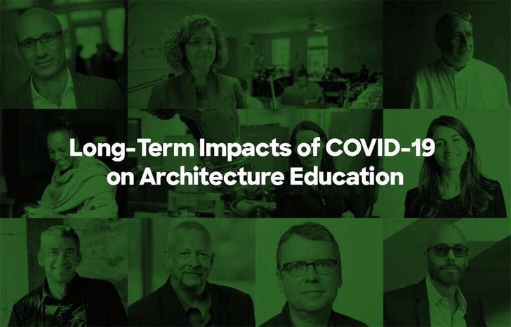 What are the potential long-term impacts of COVID-19 on architecture education?