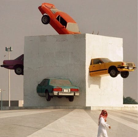 """Accident!"" by Julio Lafuente in Jeddah, Saudi Arabia (1986)"