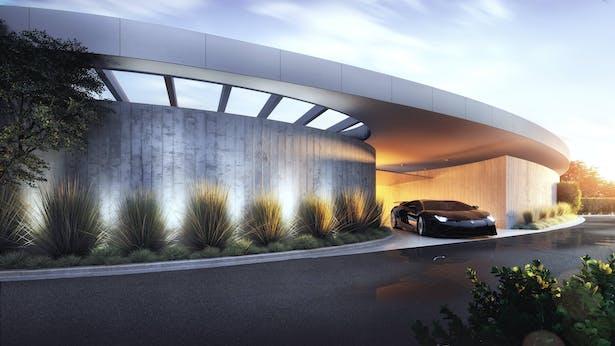 Beverly Crest Drive, Bel Air Under Construction