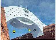 The River Bridge Hotel (A fantasy eco hotel of the future)