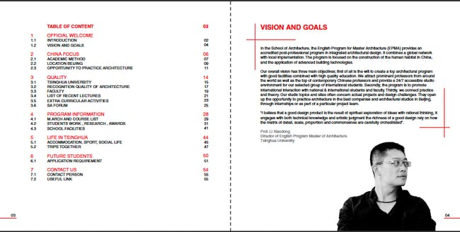 EPMA booklet table of content