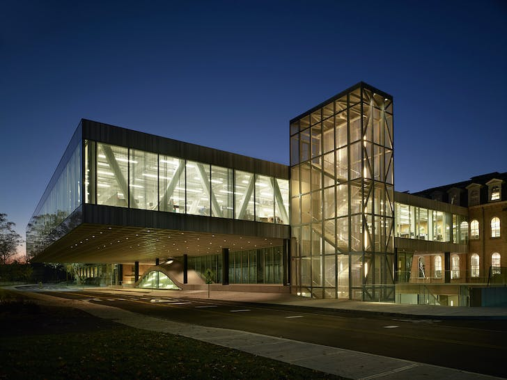 Milstein Hall at Cornell University (The Cornell School of Architecture), Architect: OMA/Rem Koolhaas © Brad Feinknopf