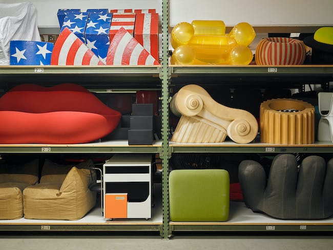 View into existing collection, not accessible for public, photo © Vitra Design Museum, Florian Boehm