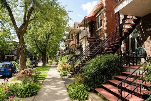 """Montreal staircases in Rosemont La Petite-Patrie. Image: Flickr user <a href=""""https://www.flickr.com/photos/caribb/35742023484/"""">Caribb</a> (CC BY-NC-ND 2.0)"""