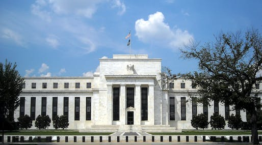 The Federal Reserve Headquarters building in Washington D.C., designed by Paul Cret. Image courtesy of Wikimedia user AgnosticPreachersKid.