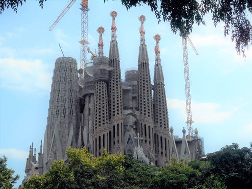 Exterior of the Sagrada Familia in 2018. Image: Wikimedia Commons user Canaan.