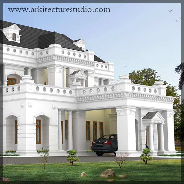 Captivating Colonial Style Luxury Kerala Home Design _leading ARCHITECTS IN  CALICUT_Arkitecture Studio