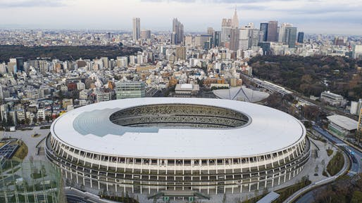 New National Stadium, Tokyo. By Kengo Kuma. © Arne Müseler