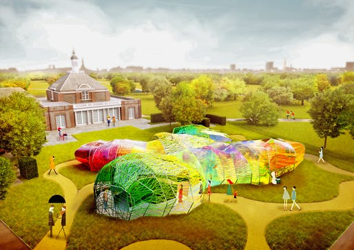 A rendering of the SelgasCano designs for the 2015 Serpentine Pavilion. Credit: SelgasCanos / the Serpentine Galleries