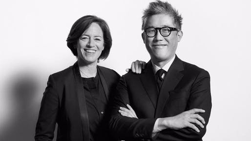 Sharon Johnston and Mark Lee, artistic directors of the Chicago Architecture Biennial. (Eric Staudenmaier / Chicago Architecture Biennial)