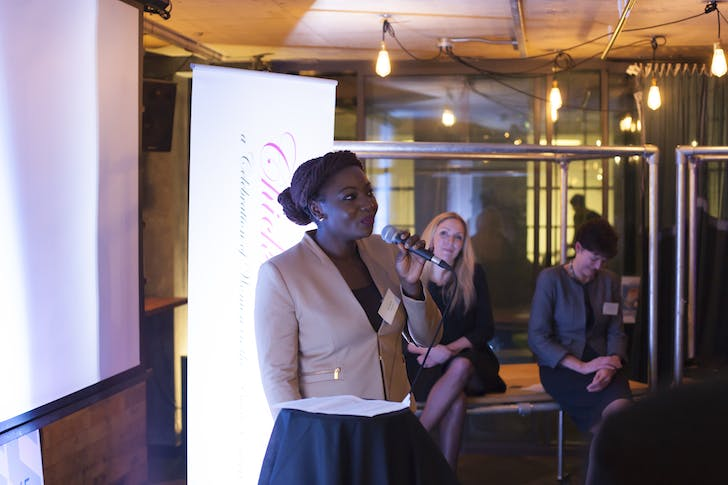 Fran Oliver, Prince's Trust Young Ambassador at The Collective, January 2016.