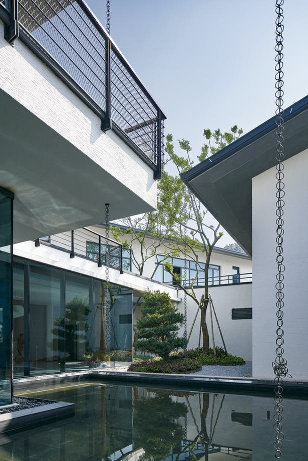 Huizhou building style with white wall