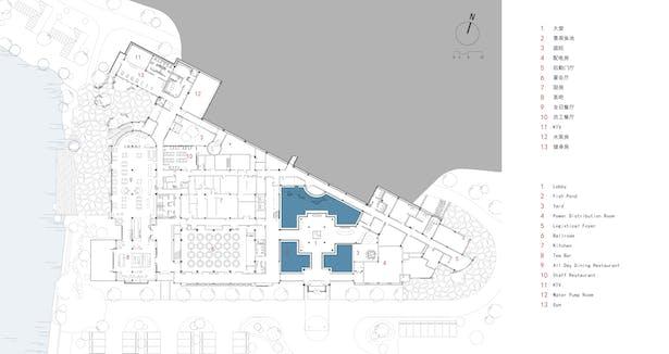main building plan (first floor)