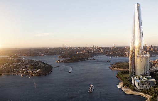 Rendering of One Barangaroo. Courtesy of WilkinsonEyre.