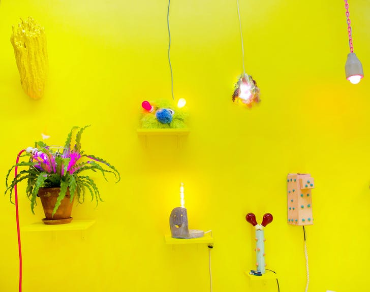 Another installation shot from 'the Lamp Show'. Image courtesy of Hand Job Gallery Store.