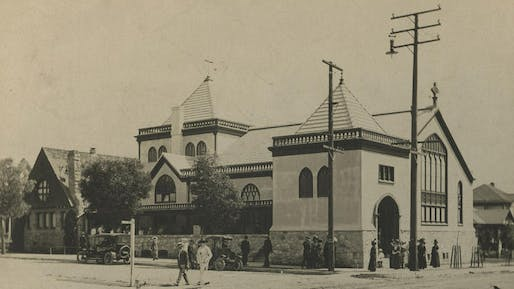 The Church of the Epiphany in Lincoln Heights, shown here in the 1920s, was built in the late 1880s. (Escher GuneWardena / Church of the Epiphany). Photo via LA Times.