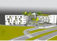 Social housing complex(60 apartments), facilities and Urbanization.