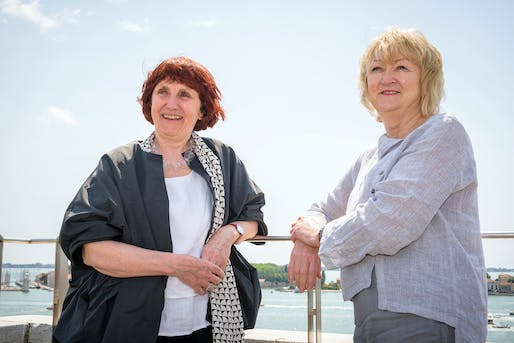 Shelley McNamara and Yvonne Farrell of Grafton Architects. Photo: Andrea Avezzu, courtesy of the Venice Biennale.
