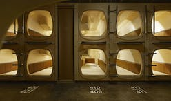 Japanese capsule hotel gets a Scandinavian spa treatment from Schemata Architects