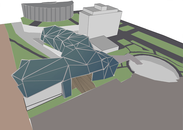Project with Cobo Arena in Background
