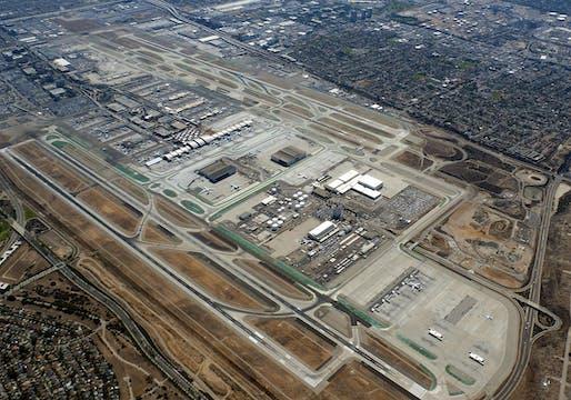 Aerial view of Los Angeles International Airport. Photo: D Ramey Logan & Taylor Mullin; image via Wikipedia.