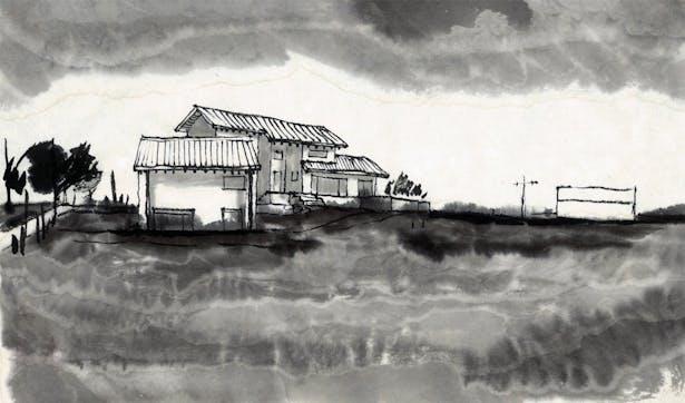 Sketch 2 - south elevation 1