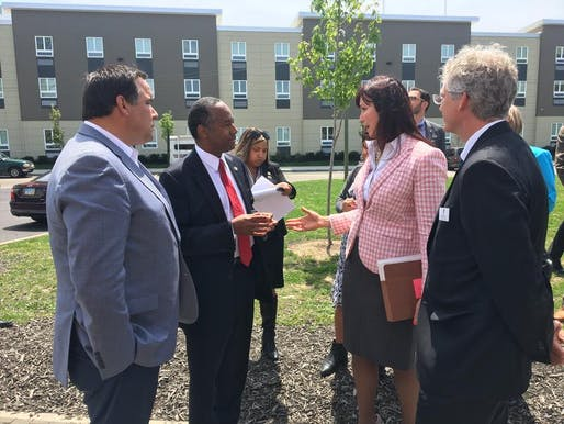 Ben Carson tours Van Buren Shelter and Village in Ohio. Image: Ben Carson via Twitter