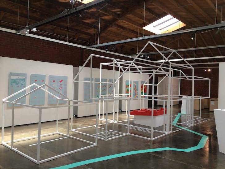 Backyard Basics, LA-Más Exhibit, Architecture + Design Museum. Photo by LA-Más.