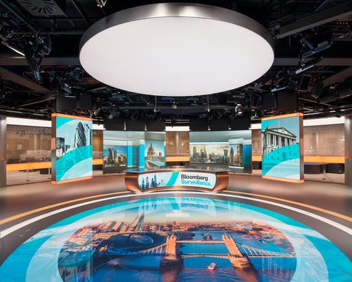 Bloomberg television studio. Photo: James Newton.
