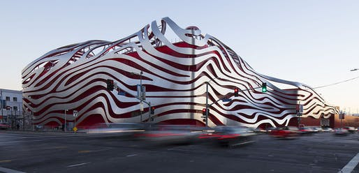 The American Architecture Award-winning Petersen Museum. Image: Petersen Automotive Museum.