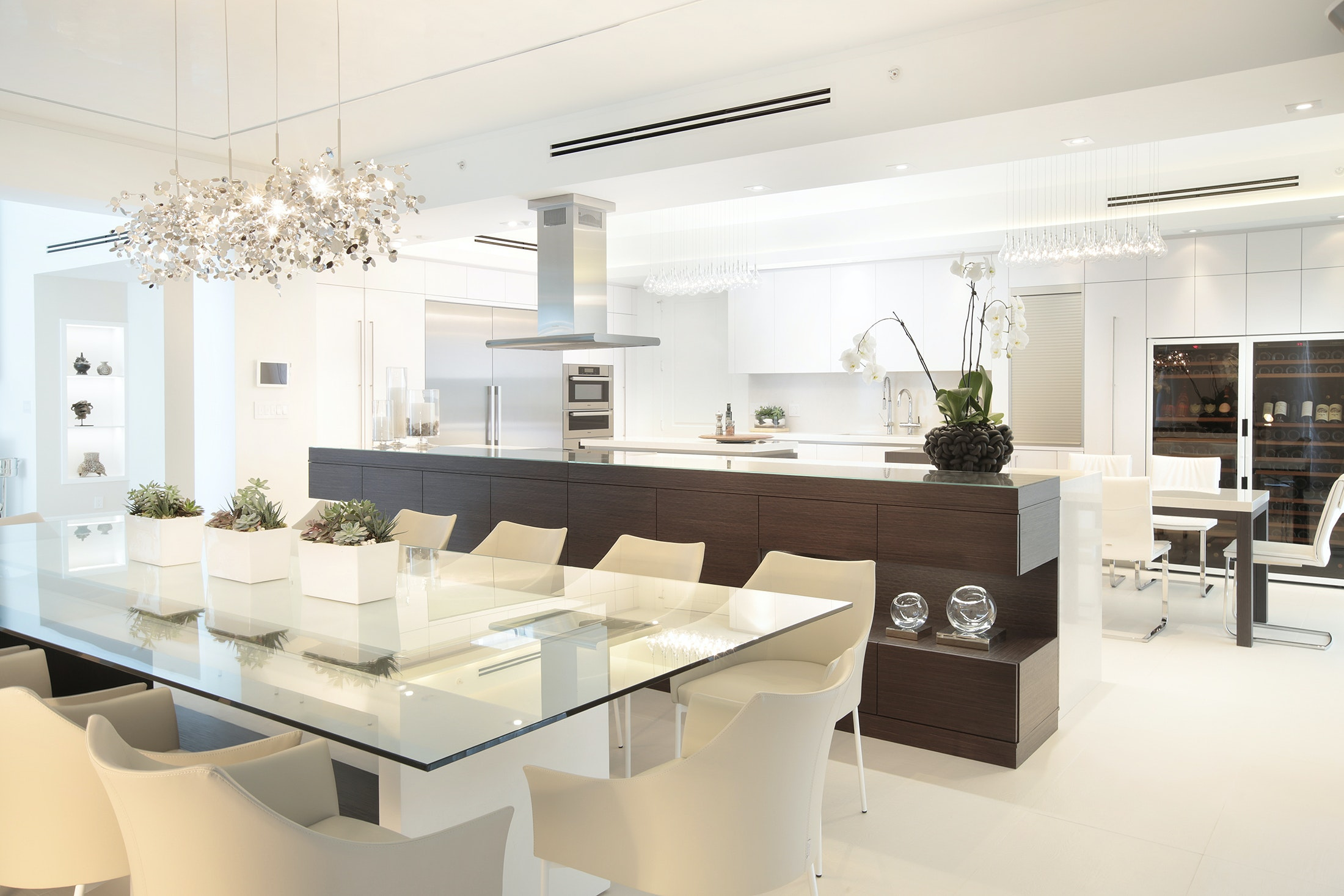 Attractive Dining Room And Kitchen   Residential Interior Design Project In Fort  Lauderdale, Florida By DKOR
