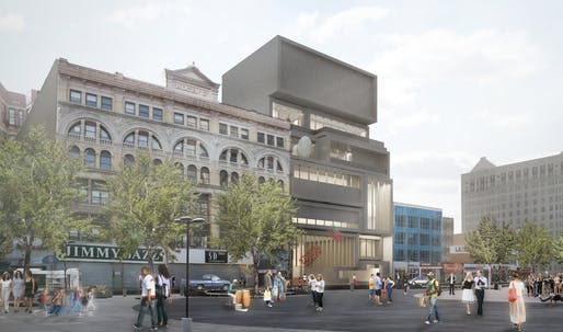 Rendering for David Adjaye's new Studio Museum in Harlem, image © 2015 The Studio Museum in Harlem