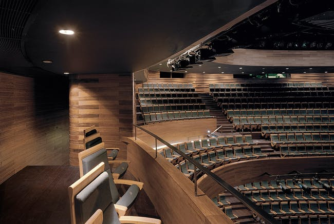 A side balcony in the main auditorium. (Photo: Jussi Tiainen)