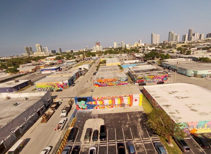 Aerial of Miami's Wynwood district, courtesy of Goldman Properties.